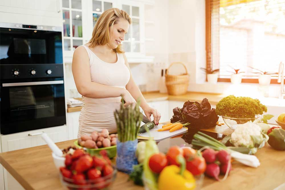 Healthy food while pregnant