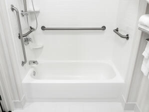 Grab bars in the bathroom are a great tool for reducing the risk of falling
