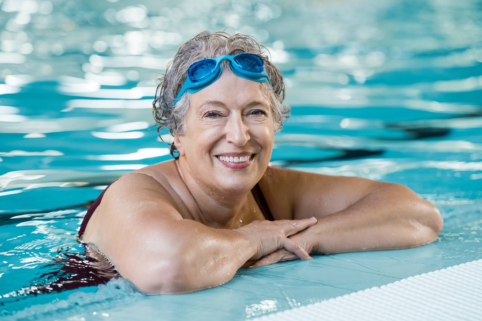 Swimming is a great low-impact form of exercise that supports joint health