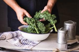 Eating foods like kale salad can help you feel fuller longer