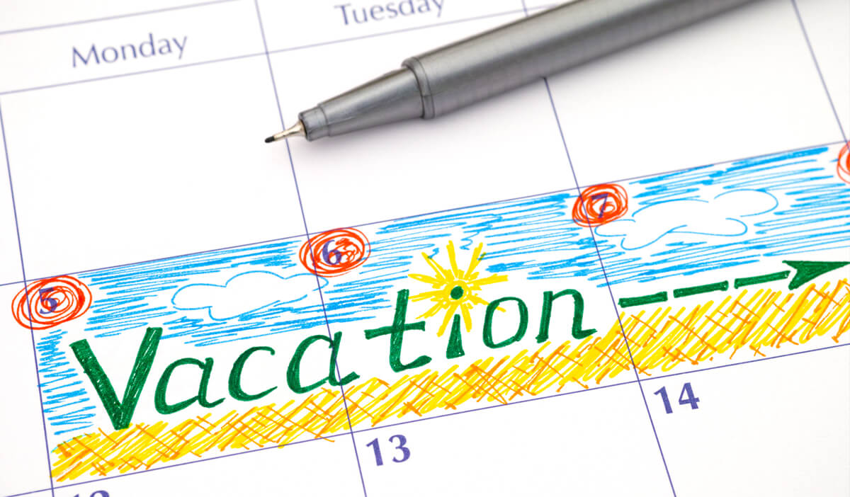 calendar used to plan travel vaccines for a healthy vacation